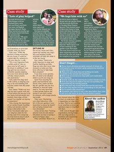 Dogs monthly Magazine September 2014